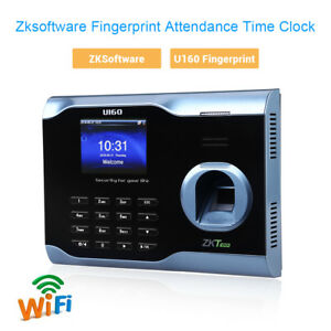 Zk U160 3 Tft Biometric Wifi Fingerprint Time Attendance Time Clock Recorder