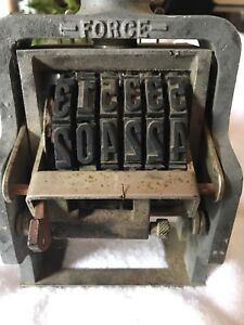Vintage Force Case 3 4 Numbering Machine