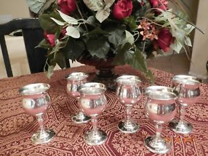 Set Of 6 Fisher Sterling Silver Fine Goblet Chalice 68