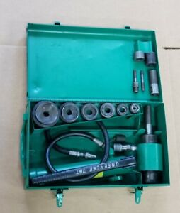 Greenlee 7306 Hydraulic Knockout Driver Metal Punch Set 1 2 To 2 Conduit 1