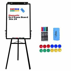 24x36 Tripod Whiteboard Magnetic Dry Erase Board Flipchart Easel Adjustable