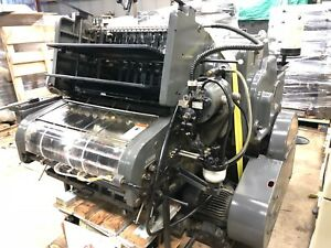 Printing Press 1975 Heidelberg Kord 64