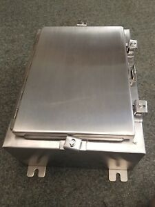 Austin hoffman A16h1206sslp Stainless Steel Enclosure 16x12x6 With Louvers