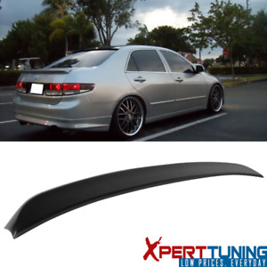 Fits 03 05 Honda Accord Sedan Oe Factory Flush Mount Trunk Spoiler Unpainted Abs