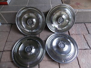 Set 4 1961 Mercury Aluminum 14 In Wheel Covers Hub Caps