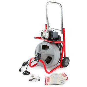 Ridgid Electric Power Machine Auger Cable Drain Clog Clean Snake Pipe Sewer Tub