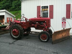 International Farmall Super A Tractor W snow Plow And Blade Runs Great