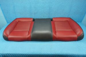 Dodge Challenger Rear Seat Bottom Cushion Bench Red Leather 2011 2014 Oem