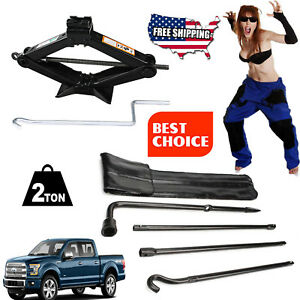 For Ford F 150 2004 2014 Portable Tire Spare Scissor Jack Lift lug Wrench Tool