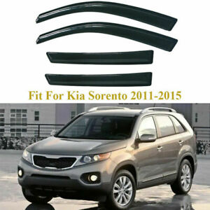 Vent Window Visor Shade Rain Guards Tape On For Kia Sorento 11 12 2013 2014 2015