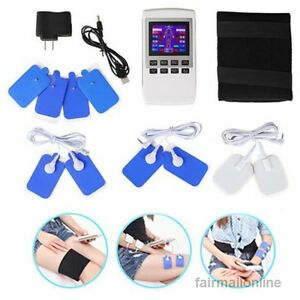 Lcd Electro Therapy Physiotherapy Pulse Massager Muscle Full Body Massager New