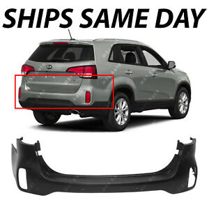New Primered Rear Upper Bumper Cover For 2014 2015 Kia Sorento W Park Assist