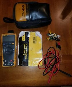 Fluke 179 True Rms Multimeter With Probes Manual Case More