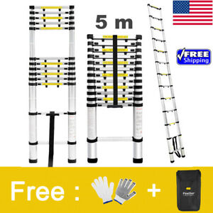 Foldable 16 4ft Telescopictelescoping Loft Extension Multi purpose Ladder 331lbs