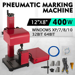 30x20cm Pneumatic Marking Machine Rotary Tool Letter Metal Parts Tagging
