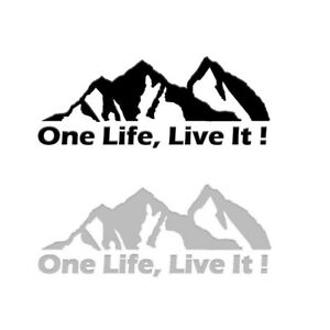 One Life Live It Off Road Mountain Silhouette Sticker Decals For Hummer Jeep