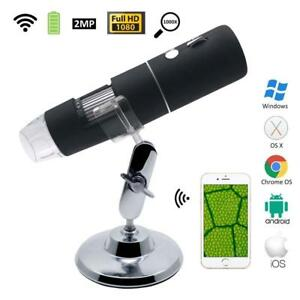 Digital Microscope Magnifier Wireless Wifi 1000x 2mp Hd 1080p For Iphone android