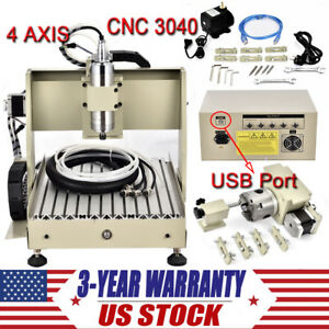 Diy Usb Cnc Router Kits 4 Axis Pcb Wood Carving Milling Engraving Machine 800w