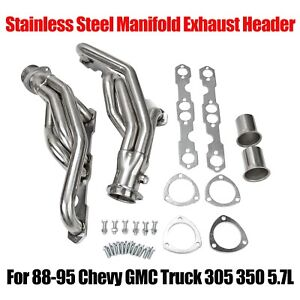 Fit 88 95 Chevy Gmc Truck 305 350 5 7l Stainless Steel Manifold Exhaust Headers