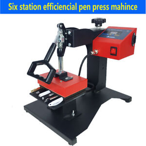 6pcs Digital Pen Heat Press Machine Ball point Pen Heat Transfer Printing 110v