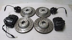 Bmw E60 M5 E63 E64 M6 Front Rear Calipers Rotors Brakes Caliper Rotor Oem 4827