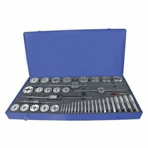 Greenfield Threading 423163 Tap And Die Set pieces 45 carbon Steel