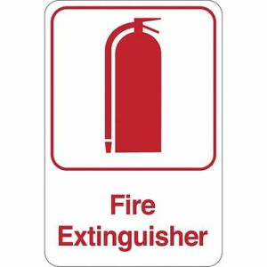fire Extinguisher Facility Sign 9 x6 red wht Partners Brand Sn401