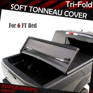 Lock Tri Fold Soft Tonneau Cover For 1983 2011 Ford Ranger 6 Ft Truck Bed Cover