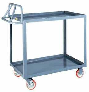 Utility Cart steel 54 Lx24 1 4 W 1200 Lb Little Giant Erlgl2448brk