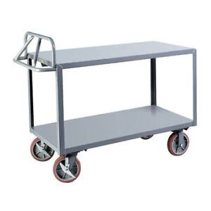 Little Giant Erg24368pybk 12 Ga Steel Raised Handle Utility Cart 3600 Lb