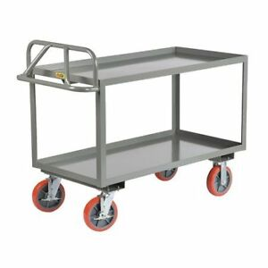 Little Giant Ergl24488pybk 12 Ga Steel Raised Handle Utility Cart 3600 Lb