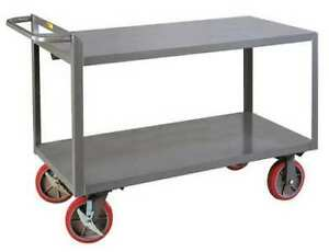 Little Giant G24368pybk 12 Ga Steel Raised Handle Utility Cart 3600 Lb