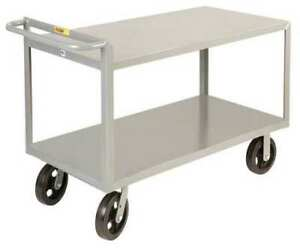 Little Giant G30486mr Steel Raised Handle Utility Cart 2000 Lb Capacity