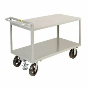 Little Giant G30488mrfl 12 Ga Steel Raised Handle Utility Cart 2400 Lb