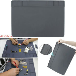 Heat Pad Silicone Mat Soldering Repair Insulation 49 X 35cm Big Size Magnets