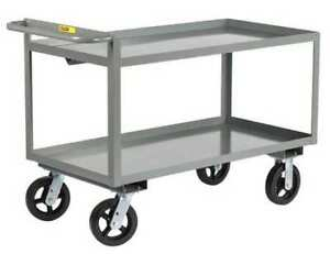 Little Giant Gl24486mr Raised Handle Utility Cart 2000 Lb Capacity 53 1 2 l X