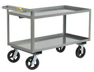 Little Giant Gl30486mr Steel Raised Handle Utility Cart 2000 Lb Capacity