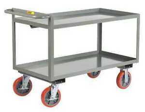 Little Giant Gl30608pybk 12 Ga Steel Raised Handle Utility Cart 3600 Lb