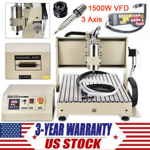 3 Axis Cnc Router Engraver Kit 1 5kw Engraving Milling Machine Controller 6040