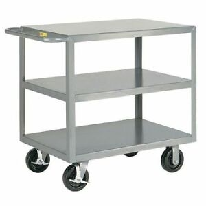 Little Giant 3g30486phbk 12 Ga Steel Flat Handle Utility Cart 3600 Lb
