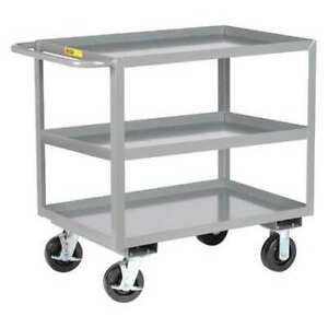 Little Giant 3gl24366phbk 12 Ga Steel Flat Handle Utility Cart 3600 Lb