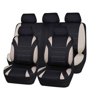 Carpass Waterproof Black Beige Gray Breathable Universal Full Set Car Seat Cover