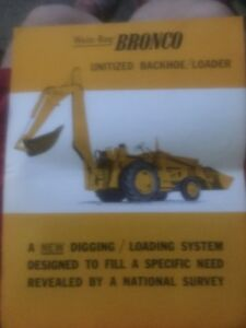 Wain Roy Bronco Unitized Backhoe Loader Brochure