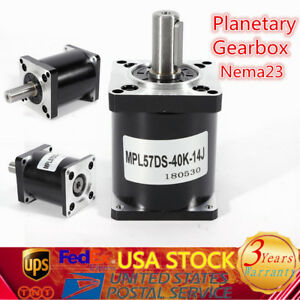 Nema 23 Electric Planetary Reduction Ratio 40 1 Gear Motor Gearbox Speed Reducer