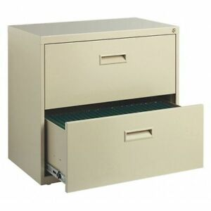 30 Wide Home Office Lateral 2 Drawer File Cabinet Putty Hirsh 19295