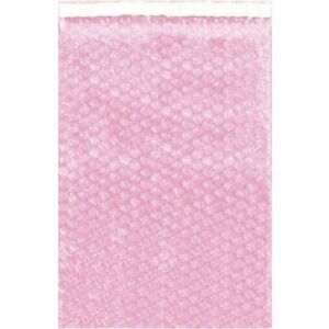 Anti static Bubble Pouches 4 x10 1 2 pink pk500 Partners Brand Bob410as