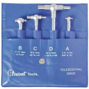 Telescoping Gage Set 4 Pcs Central Tools 6553
