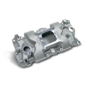 Weiand Intake Manifold 7547 1 X Celerator Single Plane Satin Aluminum For Sbc
