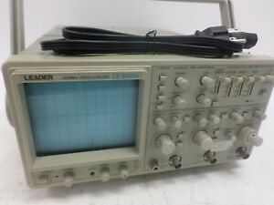 Leader 3 channel 8 trace 100mhz Bandwidth Analog Oscilloscope W Pwr Crd Ls8105a