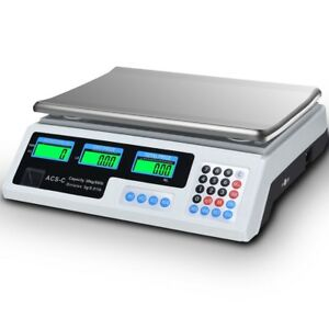 66 Lbs Lcd Digital Weight Price Computing Scale Retail Food Count Postal Mailing
